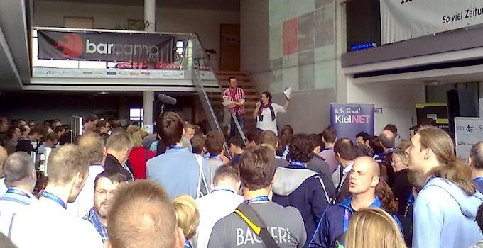 Begrüßung beim Barcamp Kiel 2013