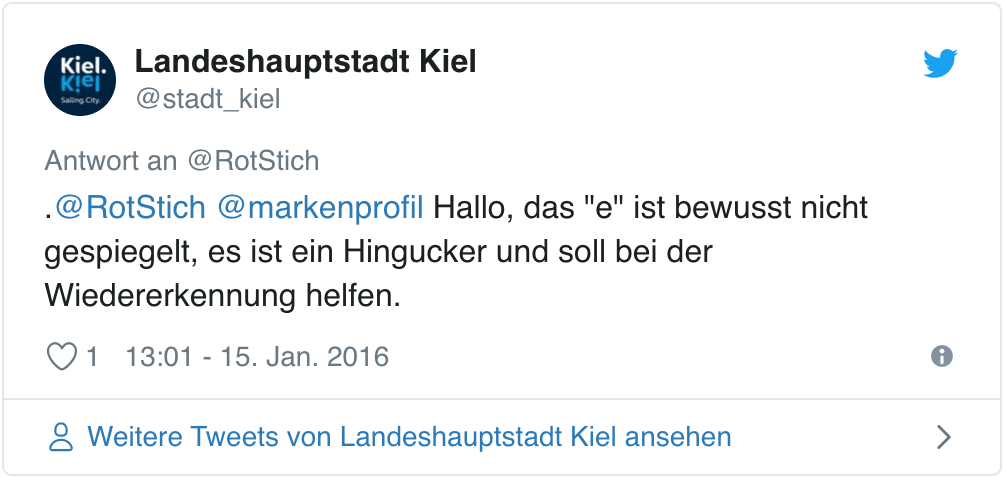 Tweet der Landeshauptstadt Kiel
