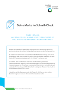 Cover des Marken-Schnell-Check