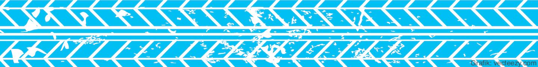 Reifenspur blau